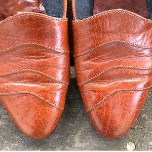 Vintage Shoes - Vtg Aerosoles Textured Leather Slip Ons Flat Shoes
